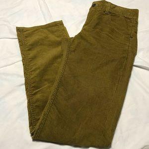 ATHLETA Frontier Cord Olive Gold Corduroy Pants 8